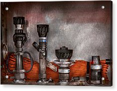 Firefighting - One For Everyone Acrylic Print by Mike Savad