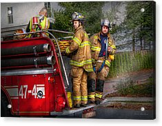 Firefighting - Only You Can Prevent Fires Acrylic Print by Mike Savad