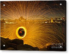 Fireflies Acrylic Print by Andrew Paranavitana