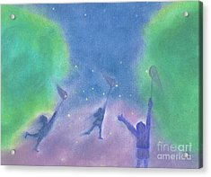 Fireflies By Jrr Acrylic Print by First Star Art