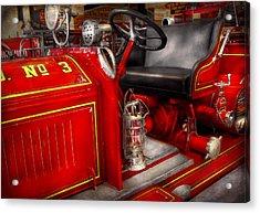 Fireman - Fire Engine No 3 Acrylic Print by Mike Savad