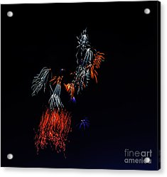 Fireworks Abstract Acrylic Print by Robert Bales