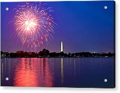 Fireworks Across The Potomac Acrylic Print by Steven Barrows