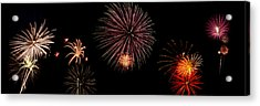 Fireworks Panorama Acrylic Print by Bill Cannon