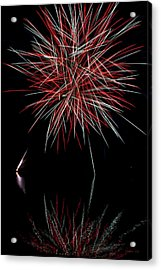 Fireworks Rockets Red Glare Acrylic Print by Christina Rollo