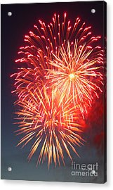 Fireworks Series II Acrylic Print by Suzanne Gaff
