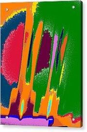 Fireworks Acrylic Print by Tom Druin