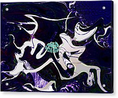 Firmament Cracked #11 Tapestry Of Pain Acrylic Print by Mathilde Vhargon