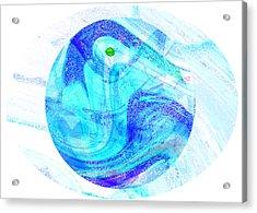 Firmament Cracked #7 - Beautiful Illusion Acrylic Print by Mathilde Vhargon