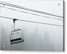 First Chair In The Storm Acrylic Print by Adam Pender