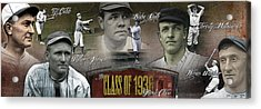 First Five Baseball Hall Of Famers Acrylic Print by Retro Images Archive
