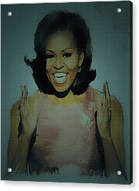 First Lady Acrylic Print by Brian Reaves