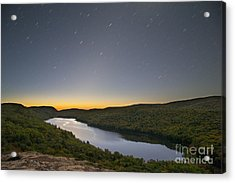 First Light At Lake Of The Clouds Acrylic Print by Twenty Two North Photography