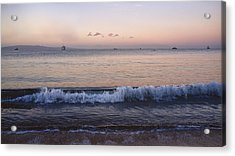 First Light On Ma'alaea Bay Acrylic Print by Trever Miller