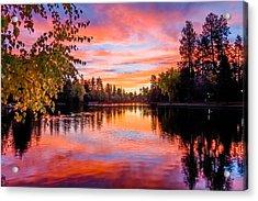 First Light On Mirror Pond Acrylic Print by John Williams
