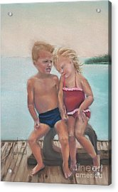 First Love Acrylic Print by Leah Wiedemer