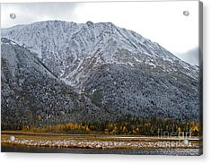 First Snow Acrylic Print by Rick  Monyahan