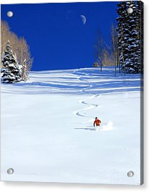 First Tracks Acrylic Print by Johnny Adolphson