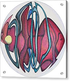 Fish Abstract Acrylic Print by George Curington