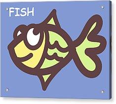 Fish Acrylic Print by Nursery Art