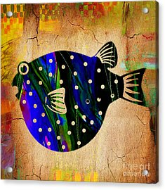 Fish Plaque Acrylic Print by Marvin Blaine