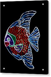 Fish Tales Acrylic Print by Shane Bechler