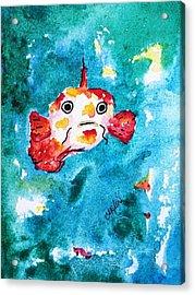 Fish Traveler - Abstract Acrylic Print by Carlin Blahnik