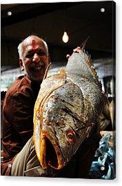 Fisherman Acrylic Print by Money Sharma
