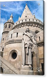 Fisherman's Bastion In Budapest Acrylic Print by Michal Bednarek