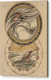 Fishes And Lobster Acrylic Print by Jules-Auguste Habert-Dys