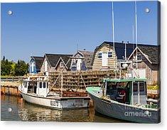 Fishing Boats Docked In Prince Edward Island  Acrylic Print by Elena Elisseeva