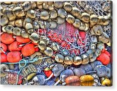 Fishing Bouys Acrylic Print by Heidi Smith