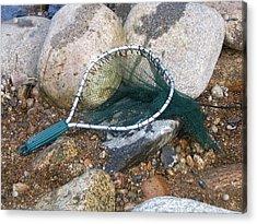 Fishing Net Acrylic Print by Kerri Mortenson