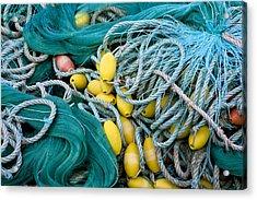 Fishing Nets Acrylic Print by Frank Tschakert