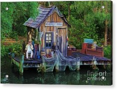 Fishing On The Bayou Acrylic Print by Lee Dos Santos