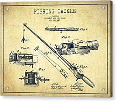 Fishing Tackle Patent From 1884 Acrylic Print by Aged Pixel