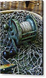 Fishing - That Old Fishing Reel Acrylic Print by Paul Ward