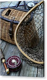 Fishing - Trout Fishing Acrylic Print by Paul Ward
