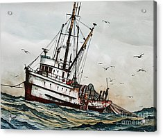 Fishing Vessel Dakota Acrylic Print by James Williamson