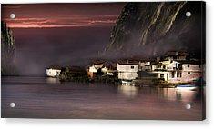 Fishing Village Acrylic Print by Radoslav Nedelchev