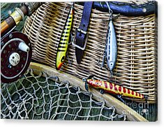 Fishing - Vintage Fishing Lures  Acrylic Print by Paul Ward