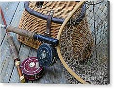 Fishing - Vintage Fishing  Acrylic Print by Paul Ward