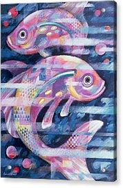 Fishstream Acrylic Print by Sarah Porter