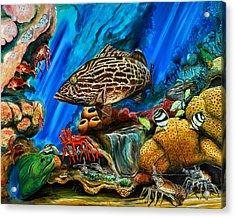 Fishtank Acrylic Print by Steve Ozment
