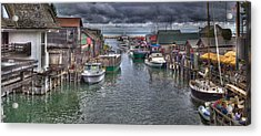Fishtown Panorama Acrylic Print by Twenty Two North Photography