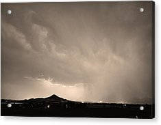Fist Bump Of Power Sepia Acrylic Print by James BO  Insogna
