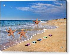Five Star Beach Yippe Yah Acrylic Print by Betsy Knapp