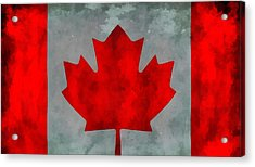 Flag Of Canada Acrylic Print by Dan Sproul