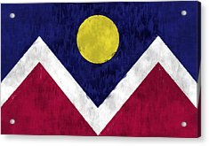 Flag Of Denver Acrylic Print by World Art Prints And Designs