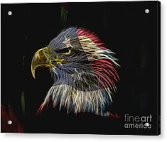 Flag Of Honor Acrylic Print by Deborah Benoit